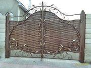 изготовление ворот!!!ограждений.перил и лестниц с кованными элементами